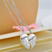 Meolin Mother Daughter Flower Chain Pendant Necklace