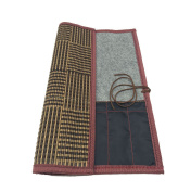 """Easyou Bamboo Calligraphy Brush Holder Rollup Portable Protector 35.5x32cm(14""""X12.5"""") with Linning"""
