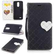 LG Aristo Case, LG LV3 Case, LG K8 2017 Case, Everun Premium Wallet Leather Case Pouch ID Credit Card Cover Flip Folio Book Style with Money Slot for LG Aristo/LG LV3 (MS210)/LG K8 2017