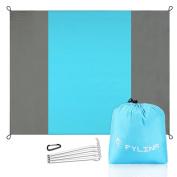 Outdoor Portable Compact Beach Blanket Oversized 7' X 9' Waterproof Sand Resistant Nylon Picnic Blanket