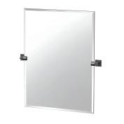 Gatco 4059MXS Elevate Bathroom Frameless Large Rectangle Mirror, 80cm , Matte Black
