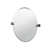 Gatco 4059MX Elevate Bathroom Frameless Small Oval Mirror, 70cm , Matte Black