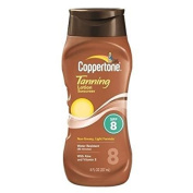 Coppertone Tanning Lotion Sunscreen, SPF 8 - 3PC