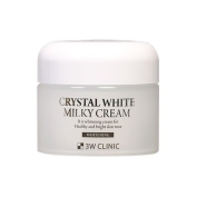3W Clinic Crystal White Milky Cream 2017 New (50g 50ml) Official Miss Korea Sponsor Product