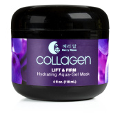 Berry Moon Anti-Ageing Collagen Mask for hydration, dark spots, and enlarged pores. With rosewater and coconut oil. Large 120ml jar.