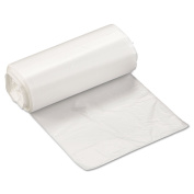 High-Density Can Liner, 17 X 18, 15.1l 6 Micron, Clear, 50/roll, 40 Rolls/carton By