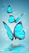 Taloyer DIY 5D Diamond Rhinestone Blue Butterfly Painting Cross Stitch Kit Mosaic Home Decor Crafts