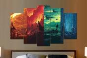 Star Wars 4 Worlds - 5 Piece Canvas