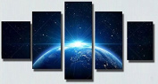 Star Light From Earth Painting - 5 piece Canvas