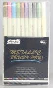 Premium Brush Tip Metallic Marker Pen,Art Marker For DIY Photo Album,Scrapbooking Crafts,For Card Making,Set of 10 Colours
