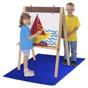 School Specialty Art Easel Floor Mat, 110cm x 150cm , Blue