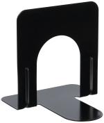 Universal Economy Bookends, Standard, 4 3/4 x 5 1/4 x 5, Heavy Gauge Steel, Black, 1 Pair