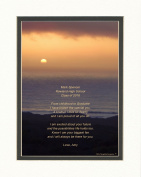 """Personalised Brother Graduation Gift with """"From Childhood to Graduate"""" Poem, Ocean Sunset Photo, 8x10 Double Matted. Special Keepsake and Unique Graduation Gifts for Brother Graduate 2017"""