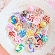30PCS Play Pretend Food Sweet Lollipop Lolipop Lolly Sugar Candy Sweetmeat for Kids Babie Doll American Girl Doll Toy