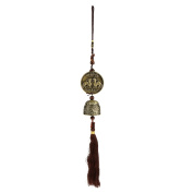 MagiDeal Feng Shui Metal Oriental Lucky Chinese Dragon Bell Charm Wind Chime Decor
