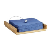 Relaxdays Napkin Holder, Bamboo, natural, 22 x 22 x 4 cm