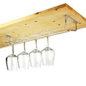 Chrome Plated Glass Rack 41cm | Glass Hanger, Glass Holder, Glassware Rack, Stemware Rack | Wine Glass Rack, Champagne Glass Rack