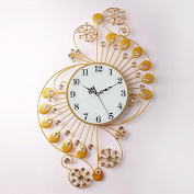 Crystal Drill Notes 6740Cm,C Modern Iron Acrylic Personality Wall Clock Large Numbers For Living Room Kitchen Kids Teenager Bedroom Office Wall Art Decor Wedding Birthday Party Gift