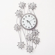 Silent Sunflower 7838Cm,D Modern Iron Acrylic Personality Wall Clock Large Numbers For Living Room Kitchen Kids Teenager Bedroom Office Wall Art Decor Wedding Birthday Party Gift