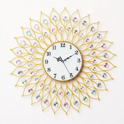 Silent Sun,A 6060Cm Modern Iron Acrylic Personality Wall Clock Large Numbers For Living Room Kitchen Kids Teenager Bedroom Office Wall Art Decor Wedding Birthday Party Gift