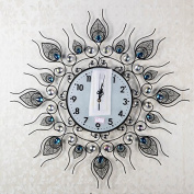 6060Cmz Modern Iron Acrylic Personality Wall Clock Large Numbers For Living Room Kitchen Kids Teenager Bedroom Office Wall Art Decor Wedding Birthday Party Gift