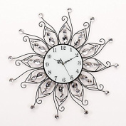 Silent Crystal Drill, Sun 6060Cm Modern Iron Acrylic Personality Wall Clock Large Numbers For Living Room Kitchen Kids Teenager Bedroom Office Wall Art Decor Wedding Birthday Party Gift