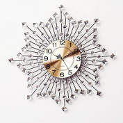 Silent Sun 6060Cm,B Modern Iron Acrylic Personality Wall Clock Large Numbers For Living Room Kitchen Kids Teenager Bedroom Office Wall Art Decor Wedding Birthday Party Gift