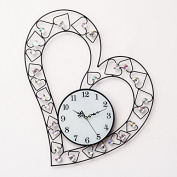 Love Ultra Quiet 5956Cm,B Modern Iron Acrylic Personality Wall Clock Large Numbers For Living Room Kitchen Kids Teenager Bedroom Office Wall Art Decor Wedding Birthday Party Gift