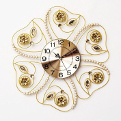 Pearl Flash Drill Silent 6060Cm,A Modern Iron Acrylic Personality Wall Clock Large Numbers For Living Room Kitchen Kids Teenager Bedroom Office Wall Art Decor Wedding Birthday Party Gift