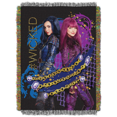 The Northwest Company Disney's Descendants 2 Glitter Chains Woven Tapestry Throw