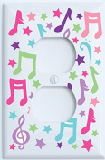 Music Notes Outlet Covers / Music Wall Decor