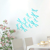 Wall Stickers ZTY66, 12Pcs 3D Dragonflies DIY Mural Stickers for Home Decor