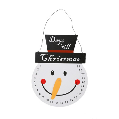 Generic Countdown to Christmas Snowman Advent Calendar for Party Decoration