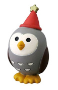 Owl with cap star Christmas figurine Japan