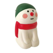 Snowman with hat red scarf Christmas figurine Japan