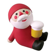 Santa Claus with a beverage Christmas figurine Japan