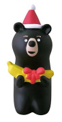 Black bear with Santa hat banana Christmas figurine Japan