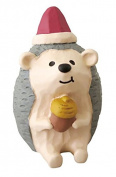 Hedgehog with Santa hat acorn Christmas figurine Japan