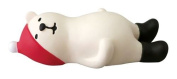 Polar bear with Santa hat lying back relaxing Christmas figurine Japan