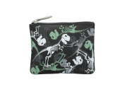 Mala Leather DINOSAUR Printed Leather Coin Purse With Keyring 4120_11 Black