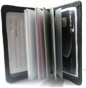 Soft Leather Black Credit Card Holder for 12 Cards