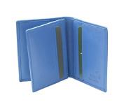 Prime Hide RFID SAFE Soft leather Credit Card Holder Wallet Boxed - Blue