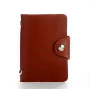 ANNE Unisex Small Faux Leather Credit Card Holder with 24 Plastic Card Slots Card Cases