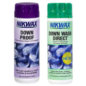 NIKWAX DOWN PROOF EASY USE WASH IN WATERPROOFING FOR DOWN FILLED GEAR PACK OF 2