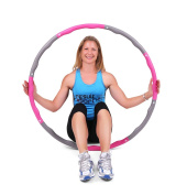 ResultSport® Level 1 Wave Weighted 1.2kgs (1.2kg) Fitness Exercise Hula Hoop - Pink/Grey