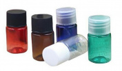 5ml Mini Refillable colourfull PET Plastic DIY oil Bottle/Jars/Container With Cap for Salve Cream Attar Toner Small articles Medicine Beauty Essential Oils Lotion Apothecary Sugar