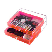 CICI & SISI Cosmetic Jewellery Makeup Organiser Box Case 2 Storage Drawers