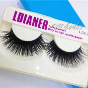 1Pair Professional Black Natural Sparse Cross Eye Lashes Extension Makeup Long False Eyelashes Extension Tools
