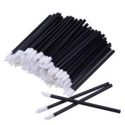 100PCS Disposable Lip Brushes Lip Gloss Applicators Lipstick Wands Makeup Beauty Tool Kits