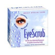 Eye Scrub Sterile Eye Makeup Remover & Eyelid Cleansing Pads 30 Ea (Pack of 3) - (Total of 90 Pads) by Alcon Laboratories Inc